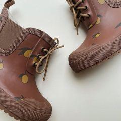 Thermal rubber boots lemon brown Konges Slojd