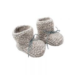 Baby alpaca baby slippers grey Petit Kolibri