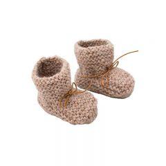 Baby alpaca baby slippers brown Petit Kolibri