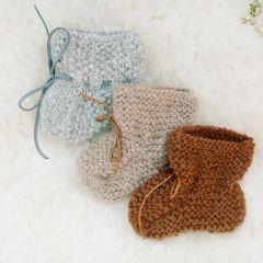 Baby alpaca baby slippers camel Petit Kolibri