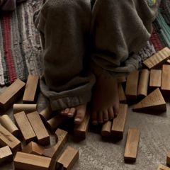 Blocs naturels en bois 30 pièces Wooden Story