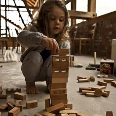 Blocs naturels en bois 50 pièces Wooden Story