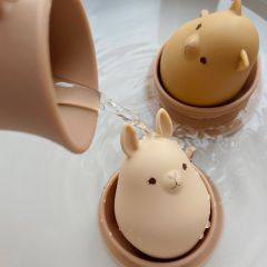 Silicone bath toys cup set bark Konges Slojd