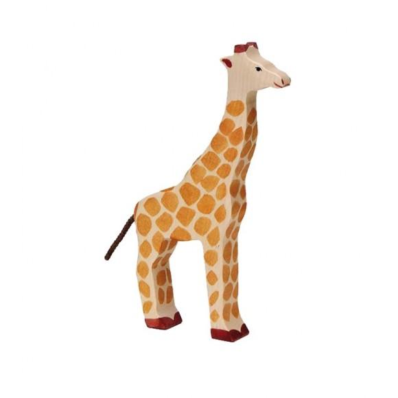Figurine en bois girafe Holztiger
