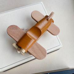 Avion en bois à roulettes marron almond Konges Slojd