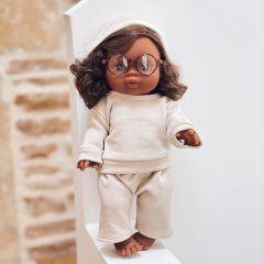 Brown curly gordi doll Charlie Minikane
