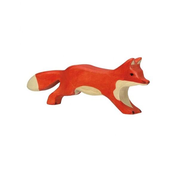 Figurine en bois renard Holztiger