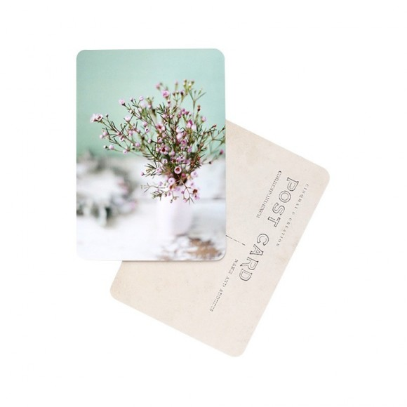 Cinq Mai  Post card Flowers and mint