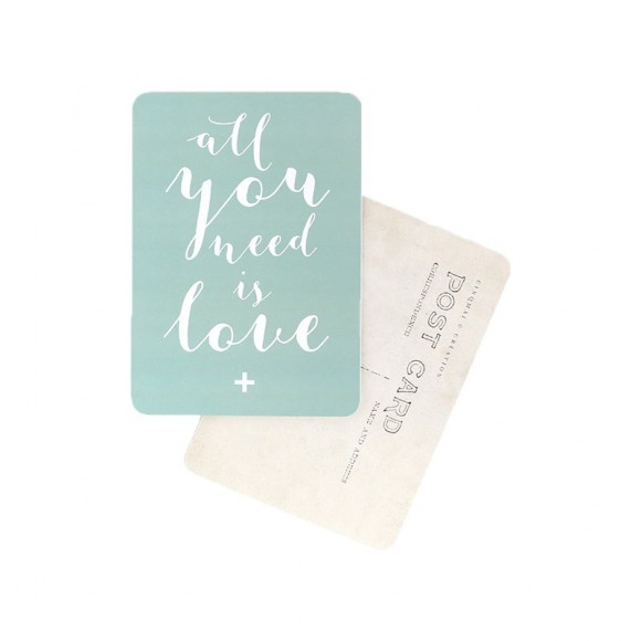 Cinq Mai  Post card All you need is love