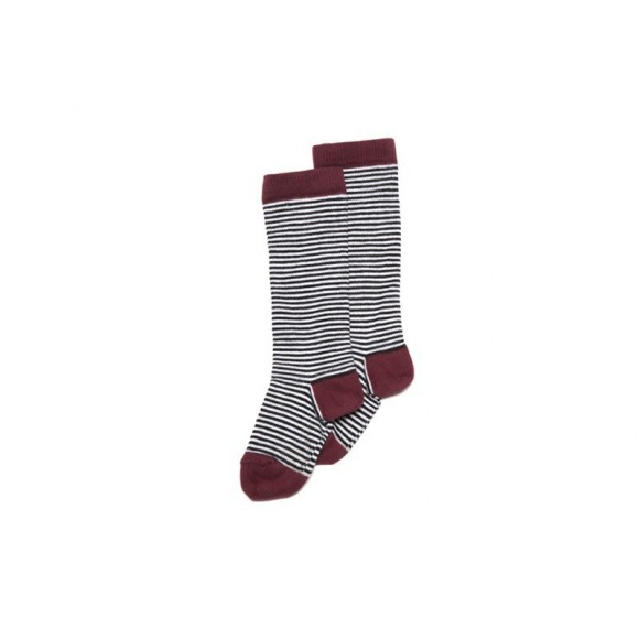 Chaussettes hautes wine red