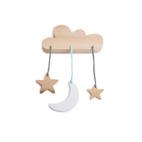 Mobile nuage en bois