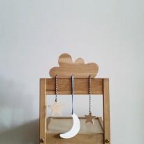 Pinchtoys Mobile Nuage en bois
