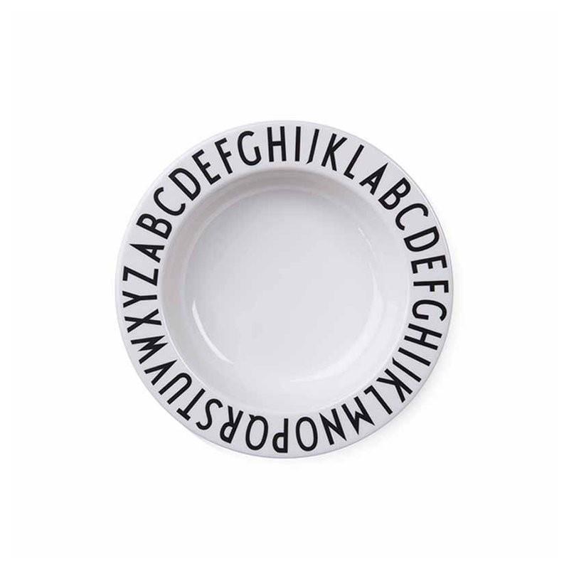 Assiette creuse Alphabet Design Letters