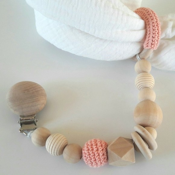 Baby nappies chain pink La petite Particule