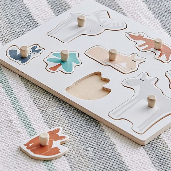 KID'S CONCEPT  Puzzle Edvin animaux