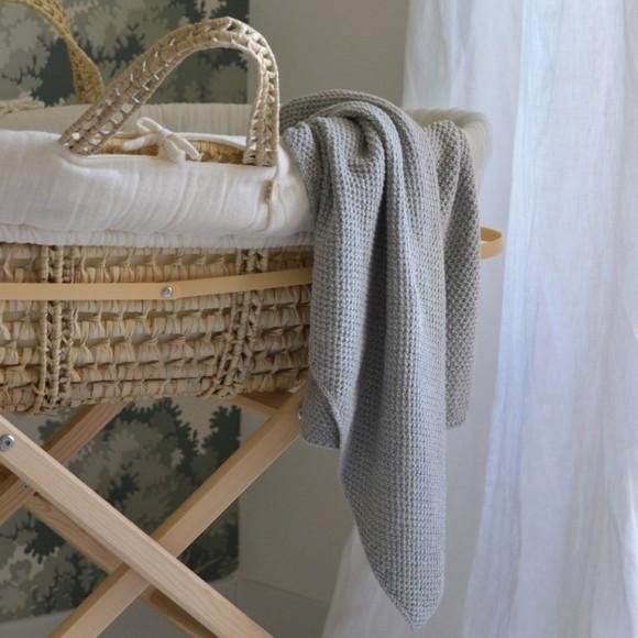 Couverture tricot grise Konges Slojd