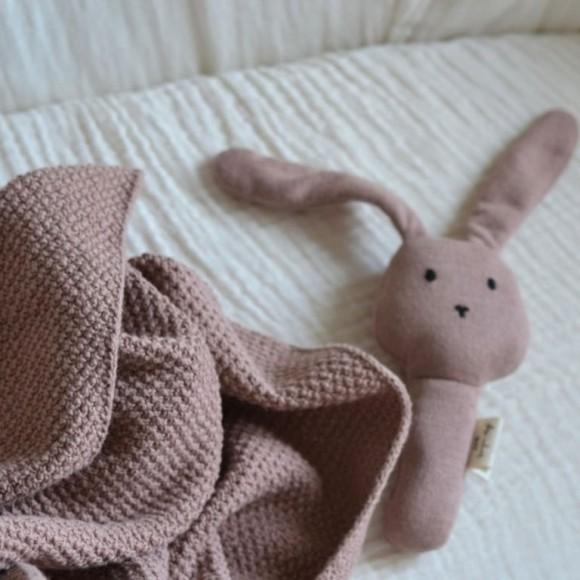 Couverture tricot rose Konges Slojd