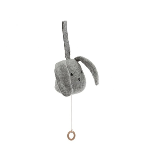 Music mobile rabbit grey melange Konges Slojd