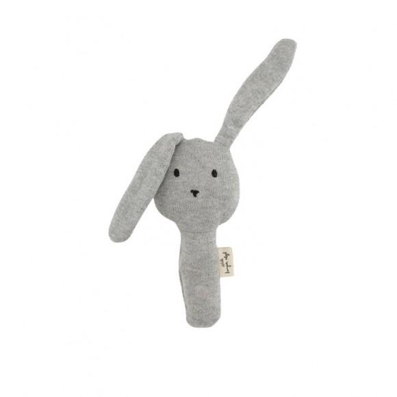 Hochet lapin gris