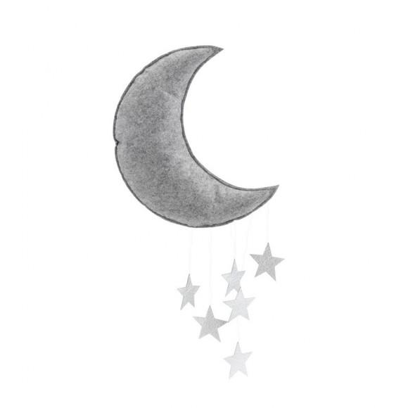 Mobile lune argent