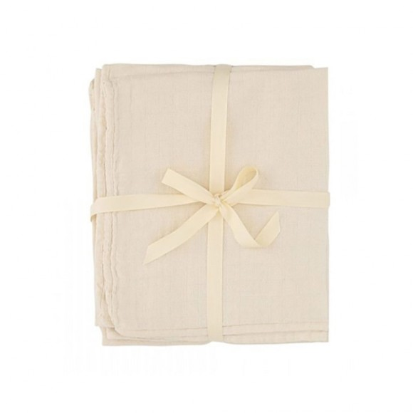 10 pack of muslin cloths nature