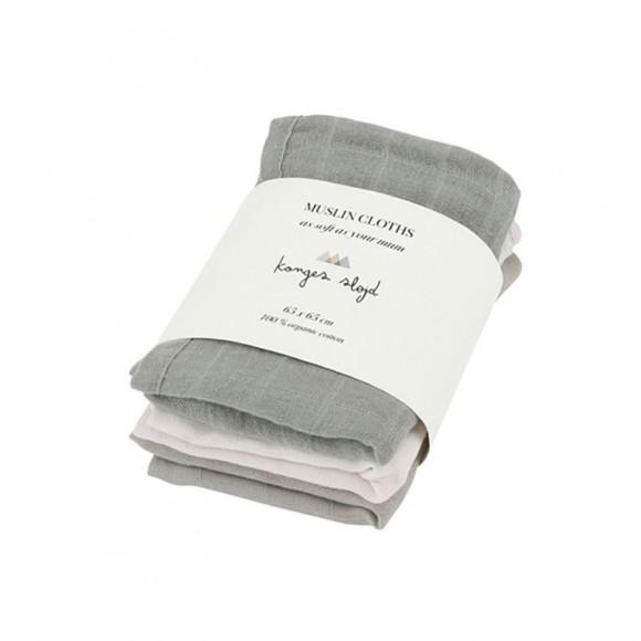 Organic muslin cloths 3-Pack limestone