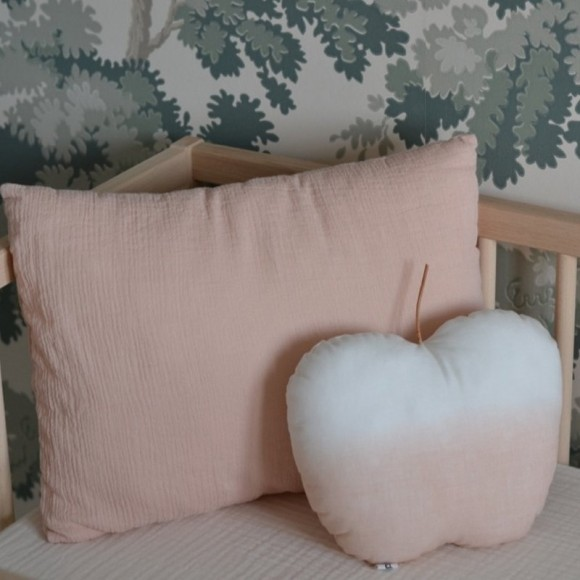 Coussin pomme pêche Mikanu