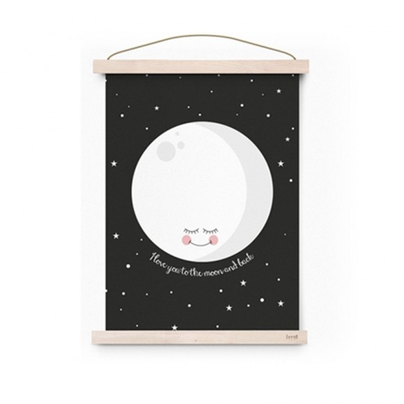 Poster Moon Black