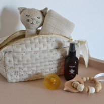 Quilted toiletry bag etoile Konges Slojd