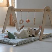 Arche d'éveil en bois loullou yellow flamingo