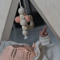 Suspension Nuage en laine Blanche loullou yellow flamingo