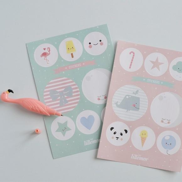 Stickers eef lillemor yellow flamingo
