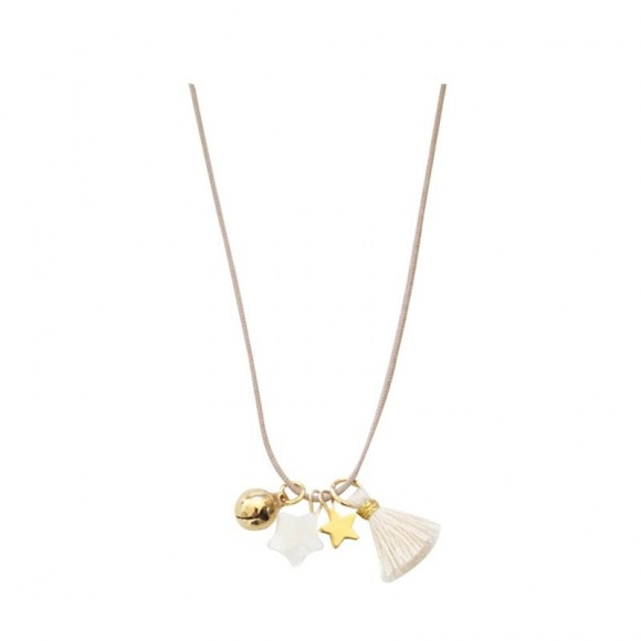 Necklace Oslo with pendant, stars and bell Mishone