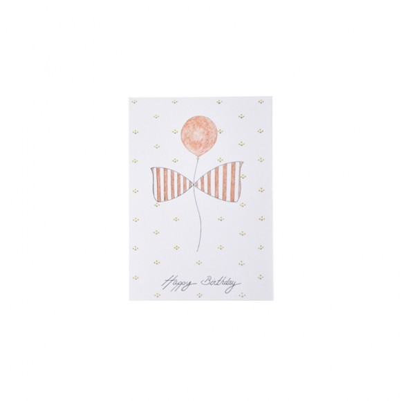 Card Happy Birthday Les Yeux Fripons Yellow Flamingo