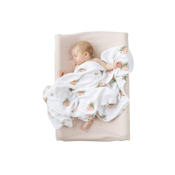 Floral bamboo swaddle blanket