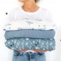 Couverture gaufrée bleue Bim Bla