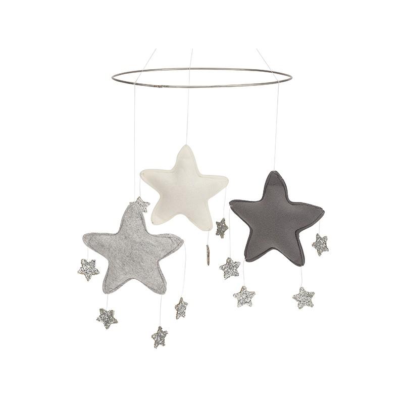 Mobile étoiles gris Bonet et Bonet
