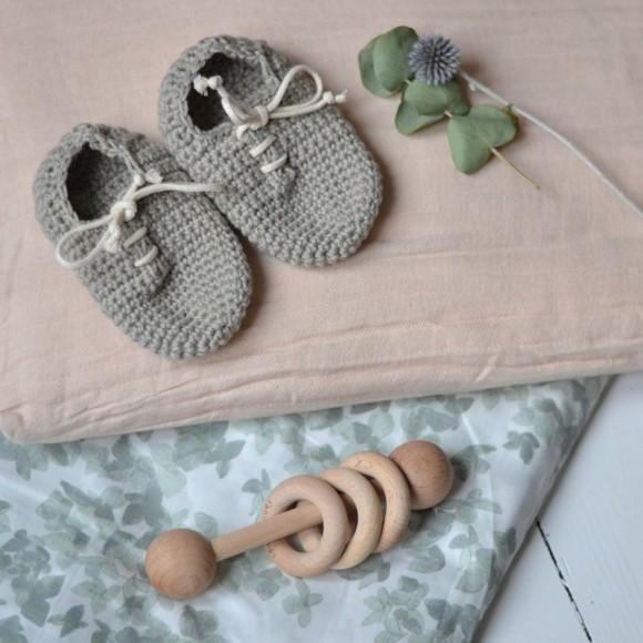 Muslin bedding junior french peach rose Bonet et Bonet