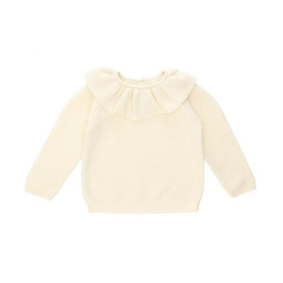 Fiol collar knit blouse off white Konges Slojd