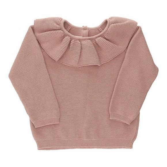 Fiol collar knit blouse rose Konges Slojd