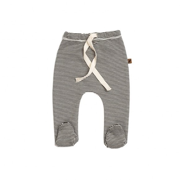 Cotton Gots Footed pants Stripe Kidwild Yellow Flamingo