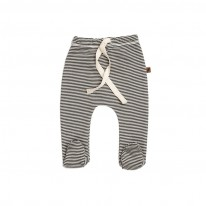 Cotton Gots Footed pants Stripe Kidwild Yellow Flamingo