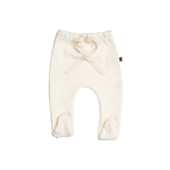 Cotton Gots Footed pants Vanilla Kidwild Yellow Flamingo