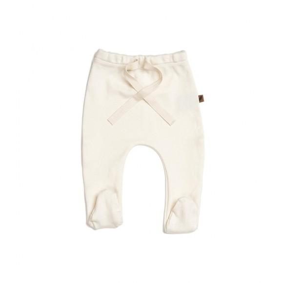Pantalon à pieds en coton GOTS Vanilla Kidwild Yellow Flamingo