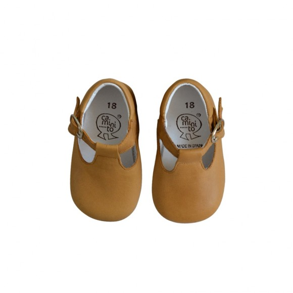 Soft Mary Janes Camel Caminito Yellow Flamingo