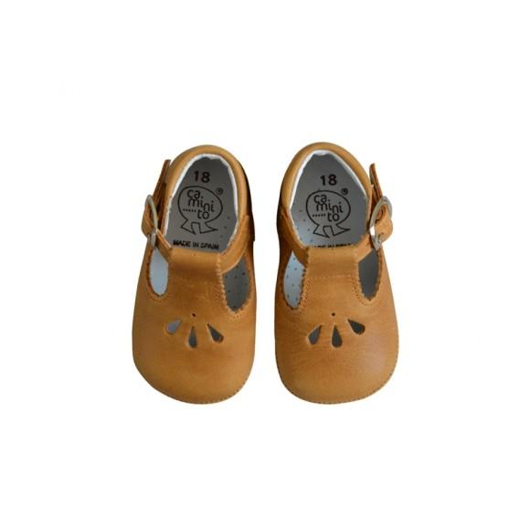 Soft Mary Janes Camel