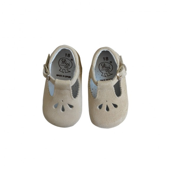 Soft Mary Janes Suede Chalk