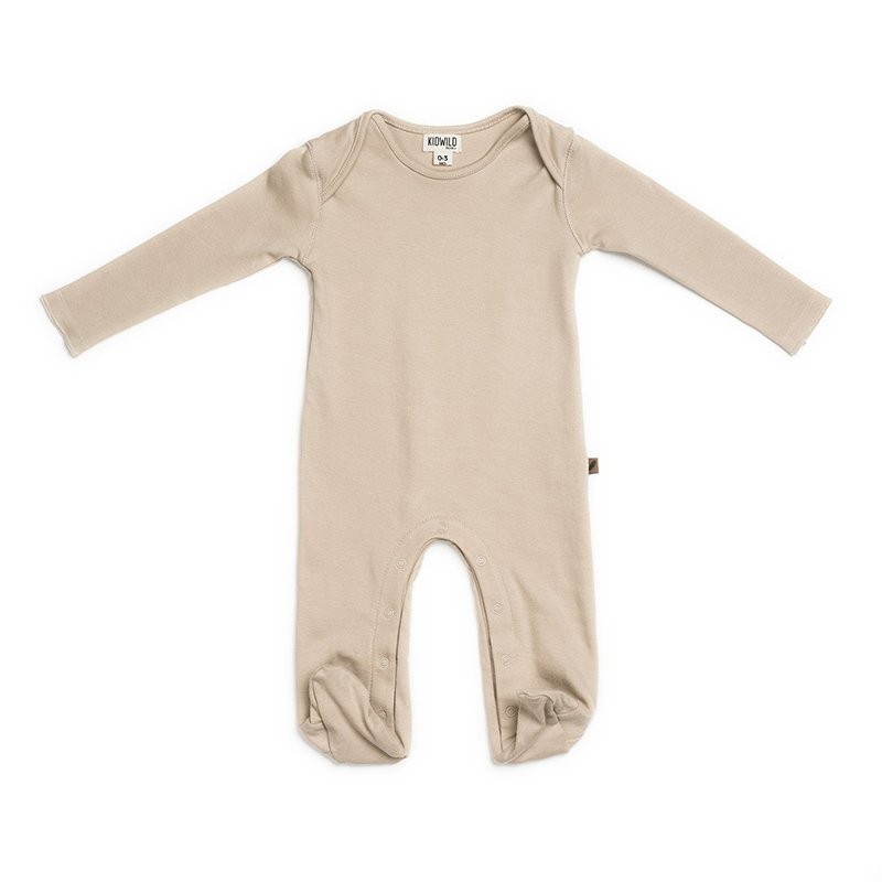 Cotton GOTS One piece pyjama Nude  Kidwild Yellow Flamingo