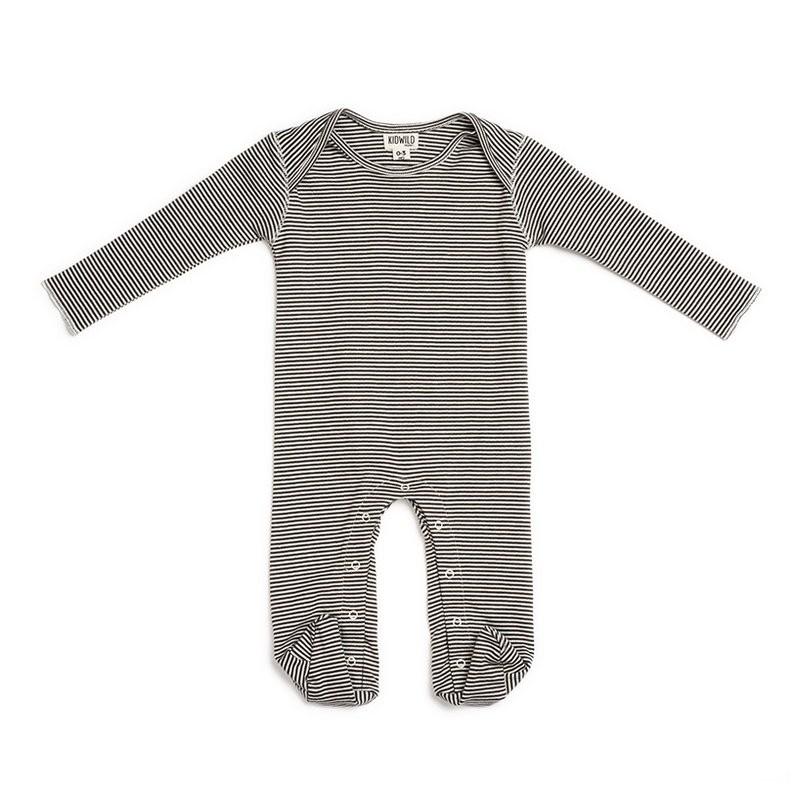 Cotton GOTS striped pyjama  Kidwild Yellow Flamingo