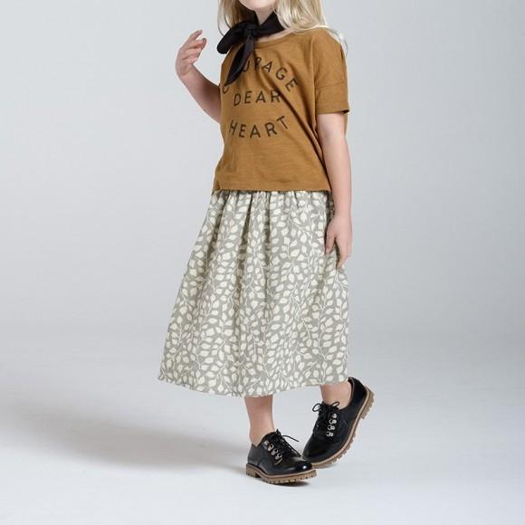 Mid Calf Skirt Lush Rylee and Cru